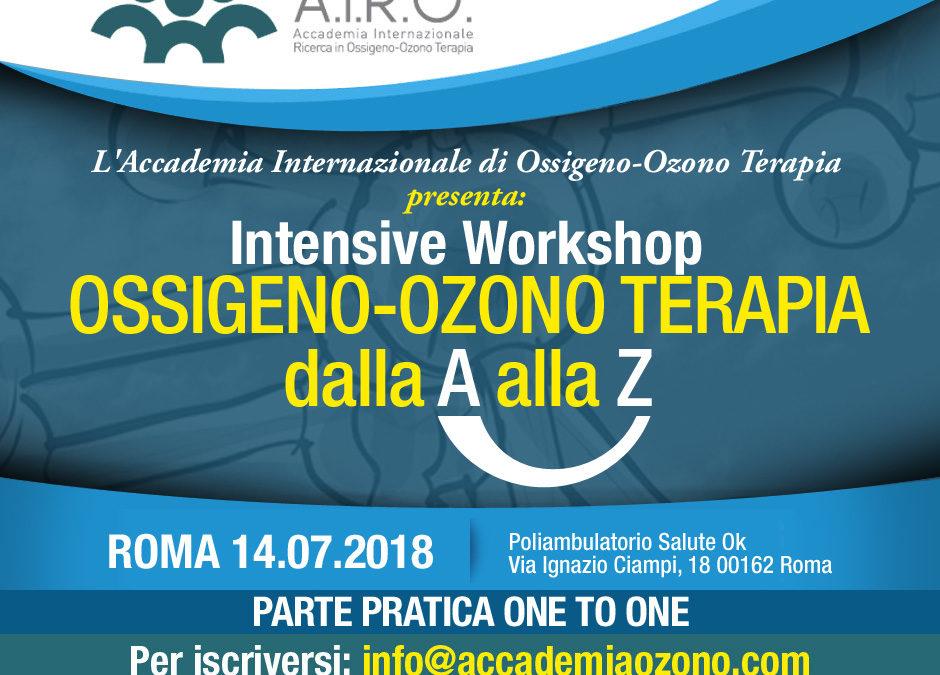 IWS: OSSIGENO-OZONO TERAPIA dalla A alla Z – Roma 14.07.2018