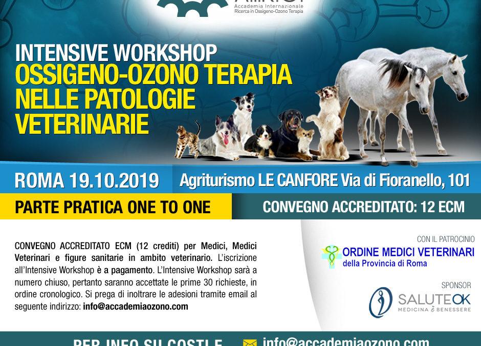 IWS OSSIGENO-OZONO TERAPIA NELLE PATOLOGIE VETERINARIE – ROMA 19.10.2019