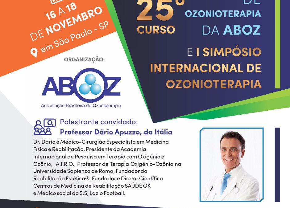 """Prof. Dario Apuzzo al """"Simposio Internazionale di Ossigeno-Ozono Terapia"""" organizzato da Aboz – Associação Brasileira de Ozonioterapia"""