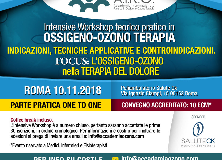 IWS: L'Ossigeno-Ozono nella Terapia del dolore – Roma 10.11.2018