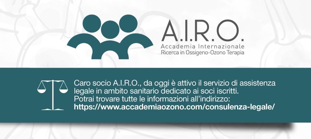 A.I.R.O.: Da oggi attivo il servizio di assistenza legale in ambito sanitario