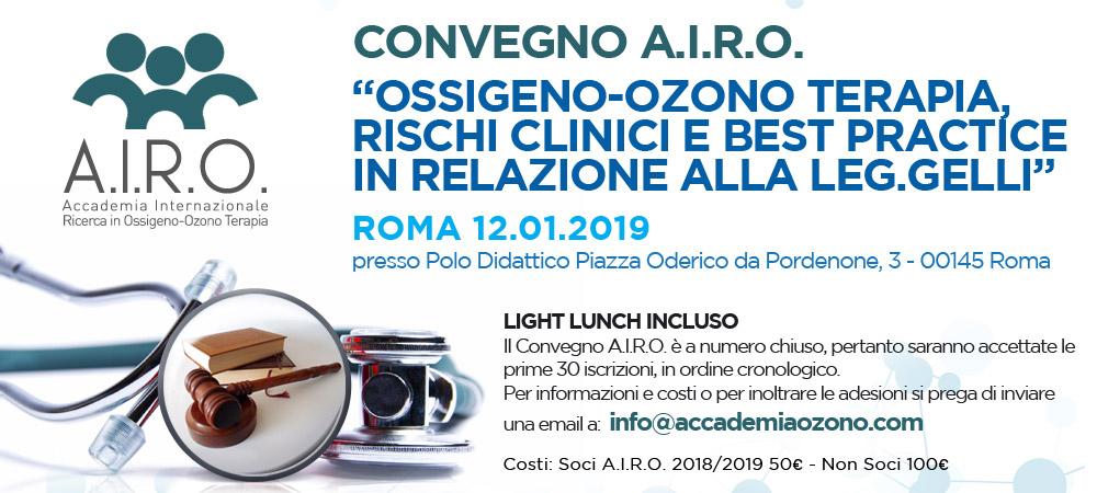 Ossigeno-Ozono Terapia, rischi clinici e best practice in relazione alla leg. Gelli