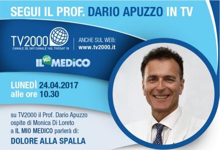 Dolori di spalla: i consigli del Presidente Apuzzo in diretta lunedì 24.04 su Il Mio Medico