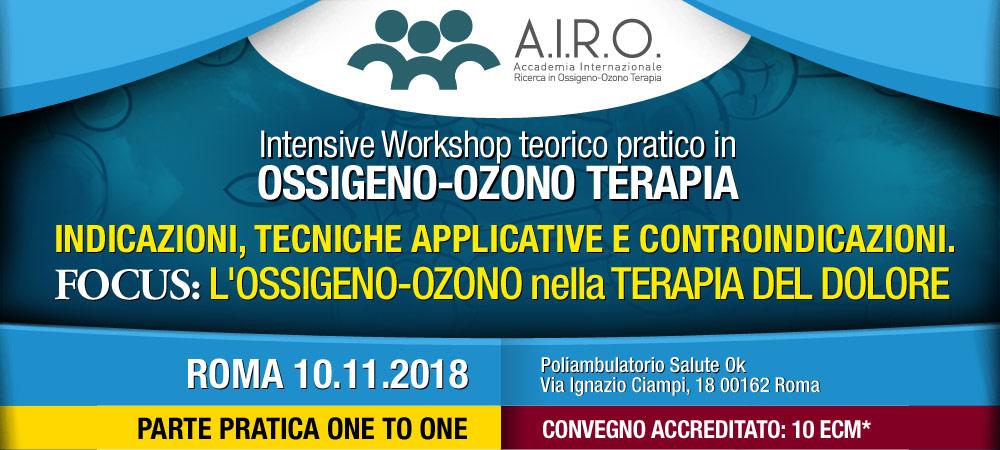 Intensive Workshop teorico pratico in OSSIGENO-OZONO TERAPIA